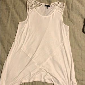 Apt.9 asymmetrical hem. sleeveless top.